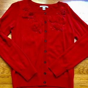 NWOT Banana Republic red cardigan sweater